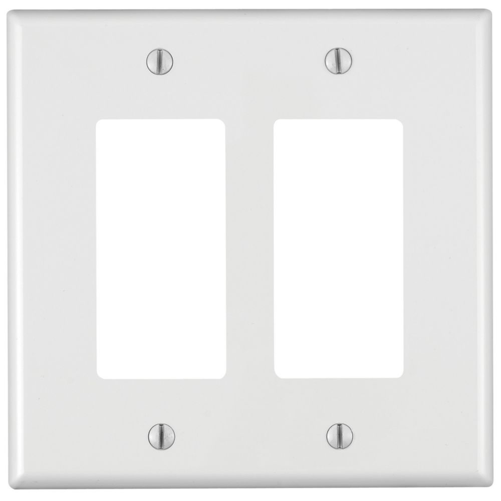 Decora 2-Gang Midway Nylon Wallplate, in White