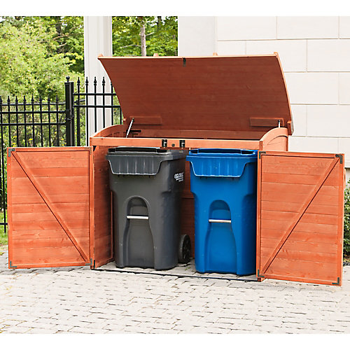 5 ft. 2-inch x 2 ft. 10-inch x 4 ft. Cypress Horizontal Refuse Storage Shed