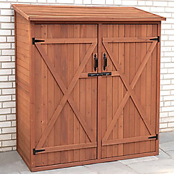 Leisure Season 4 ft. 11-inch x 2 ft. 7-inch x 5 ft. 4-inch Cypress Medium Storage Shed