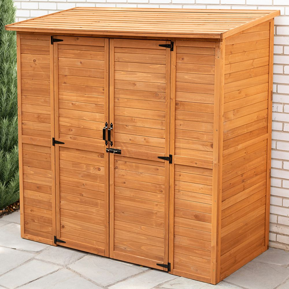 Suncast 54 cu. ft. Vertical Storage Shed | The Home Depot ...