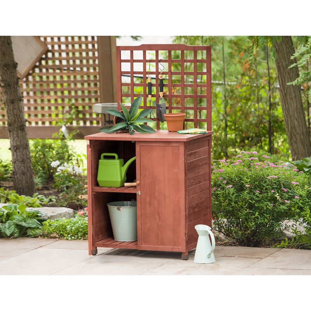 Leisure Season Potting Table with Storage