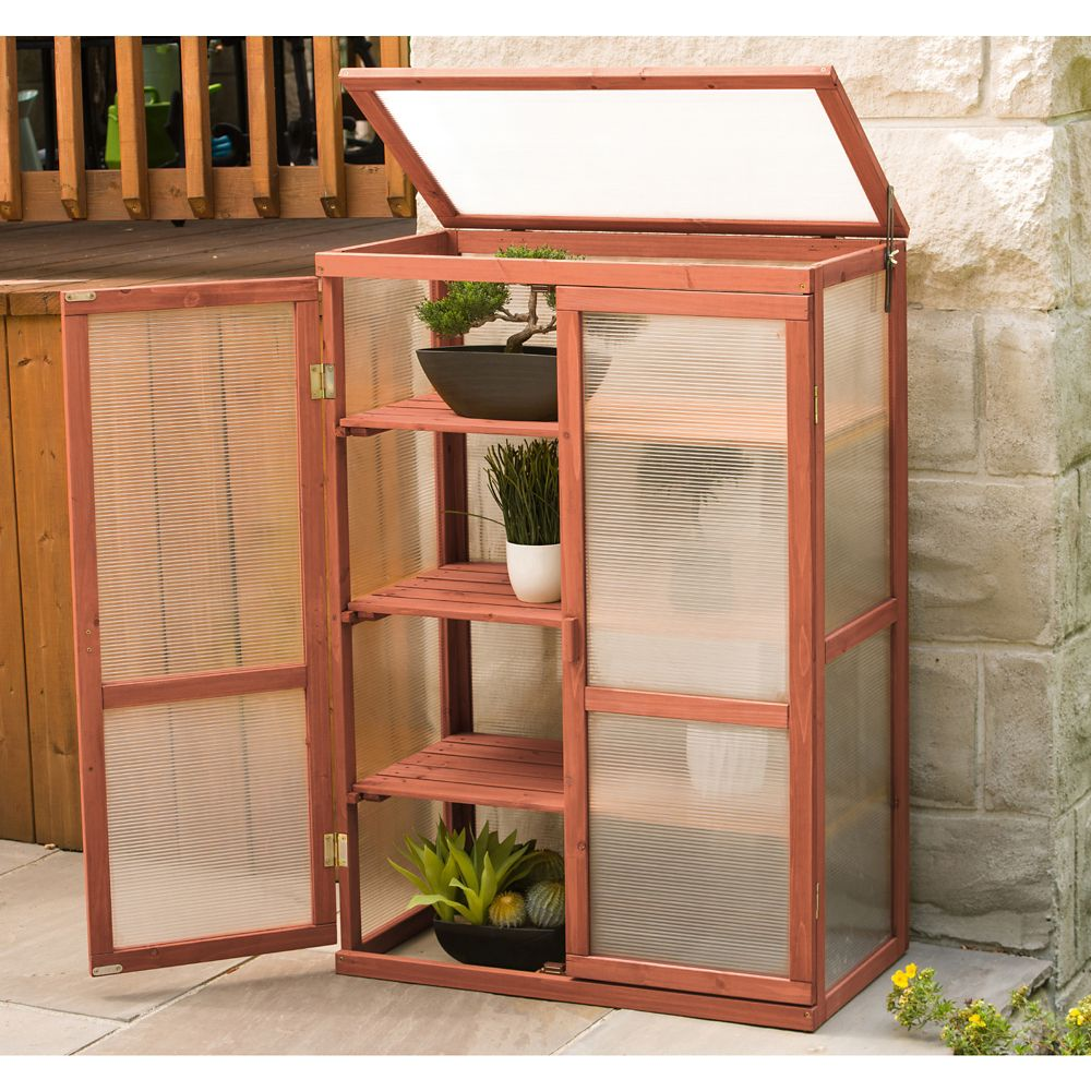 Leisure Season 1 ft. 4-inch x 2 ft. 6-inch Cypress Mini Greenhouse