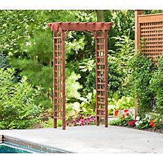26-inch x 49-inch x 83-inch Cypress Garden Arbour