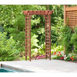Leisure Season 26-inch x 49-inch x 83-inch Cypress Garden Arbour