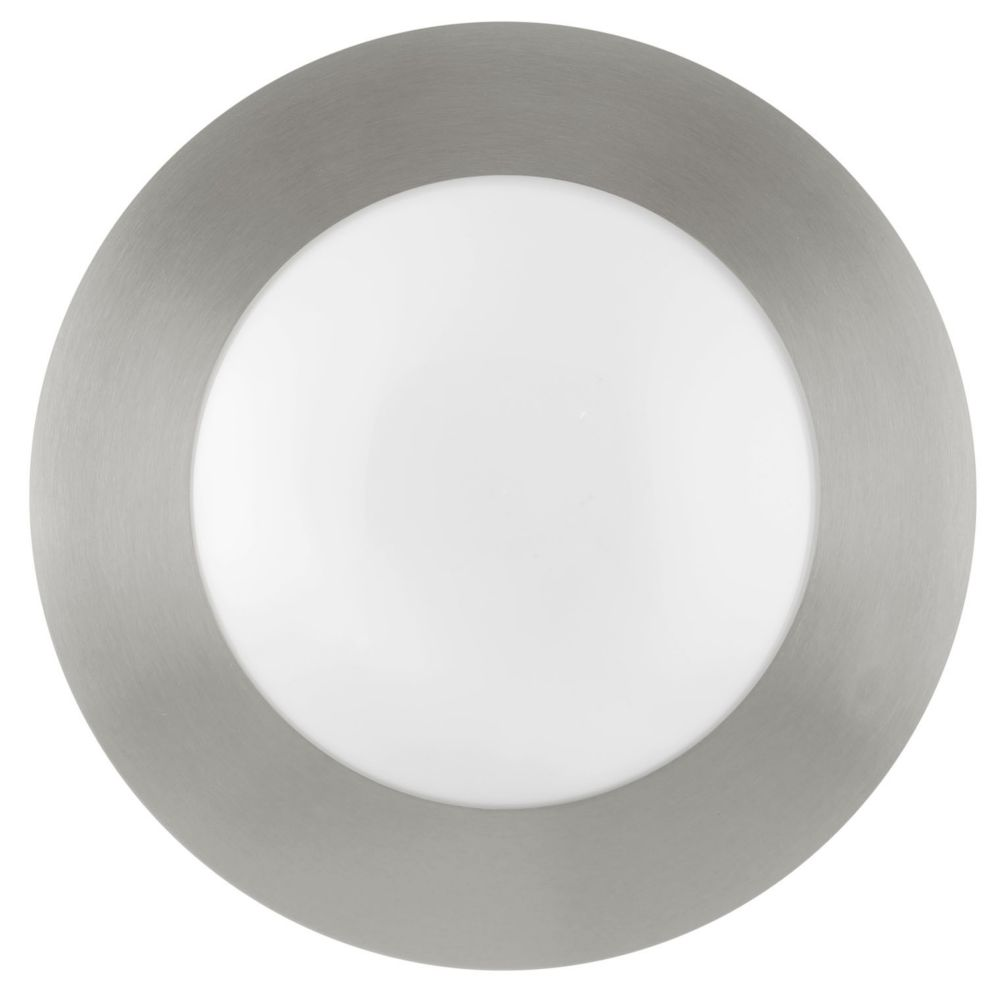 Palmera Ceiling Light Matte Nickel Finish with Opal Frosted Glass