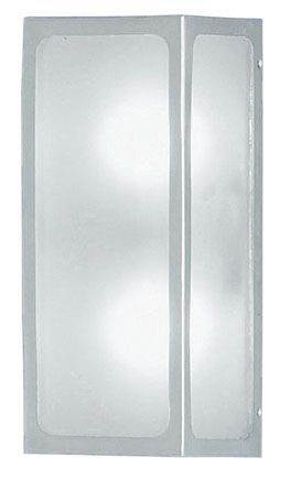 Linaries Outdoor Wall Light silver Finish with Frosted Glass