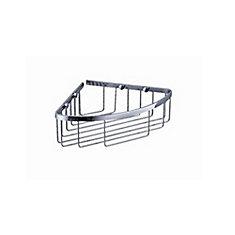 Single Corner Wire Basket - Chrome