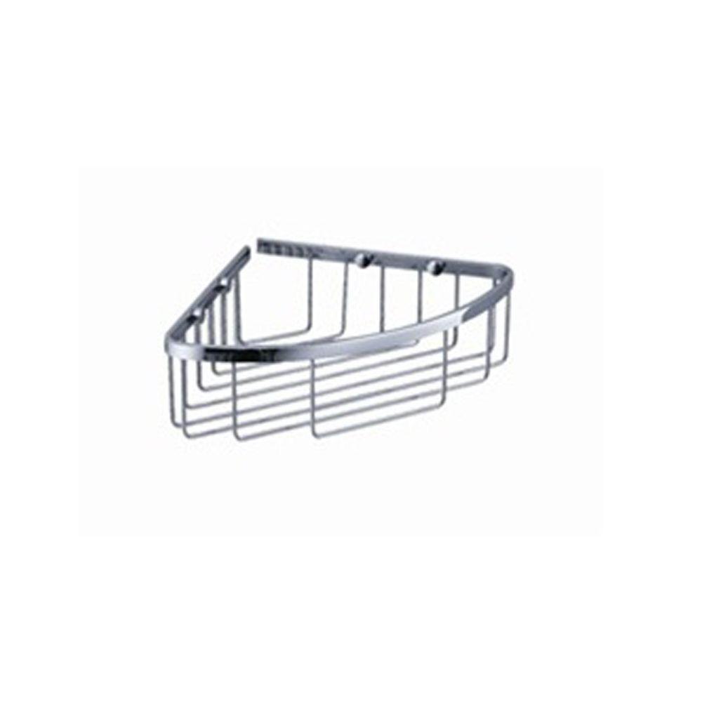 Fresca Single Corner Wire Basket - Chrome