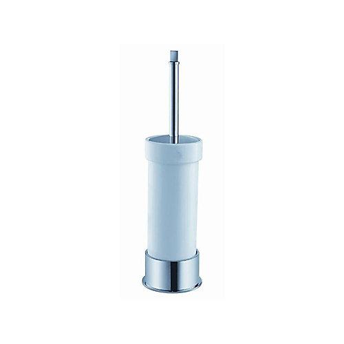 Glorioso Ceramic Toilet Brush/Holder in Chrome