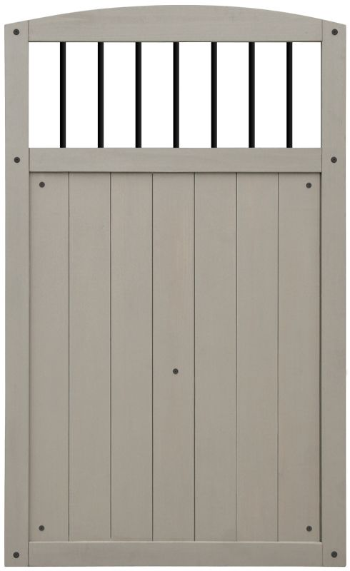 Black Baluster Gate - Grey