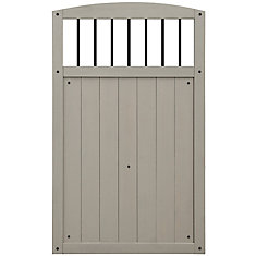 Baycrest 42 inch x 68 inch Gate with Black Baluster Insert