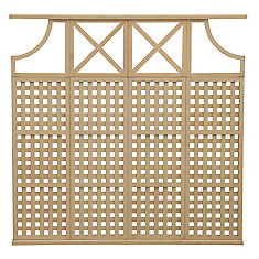 78.5 inch x 77.5 inch 4 High Privacy Lattice X Arch Panel