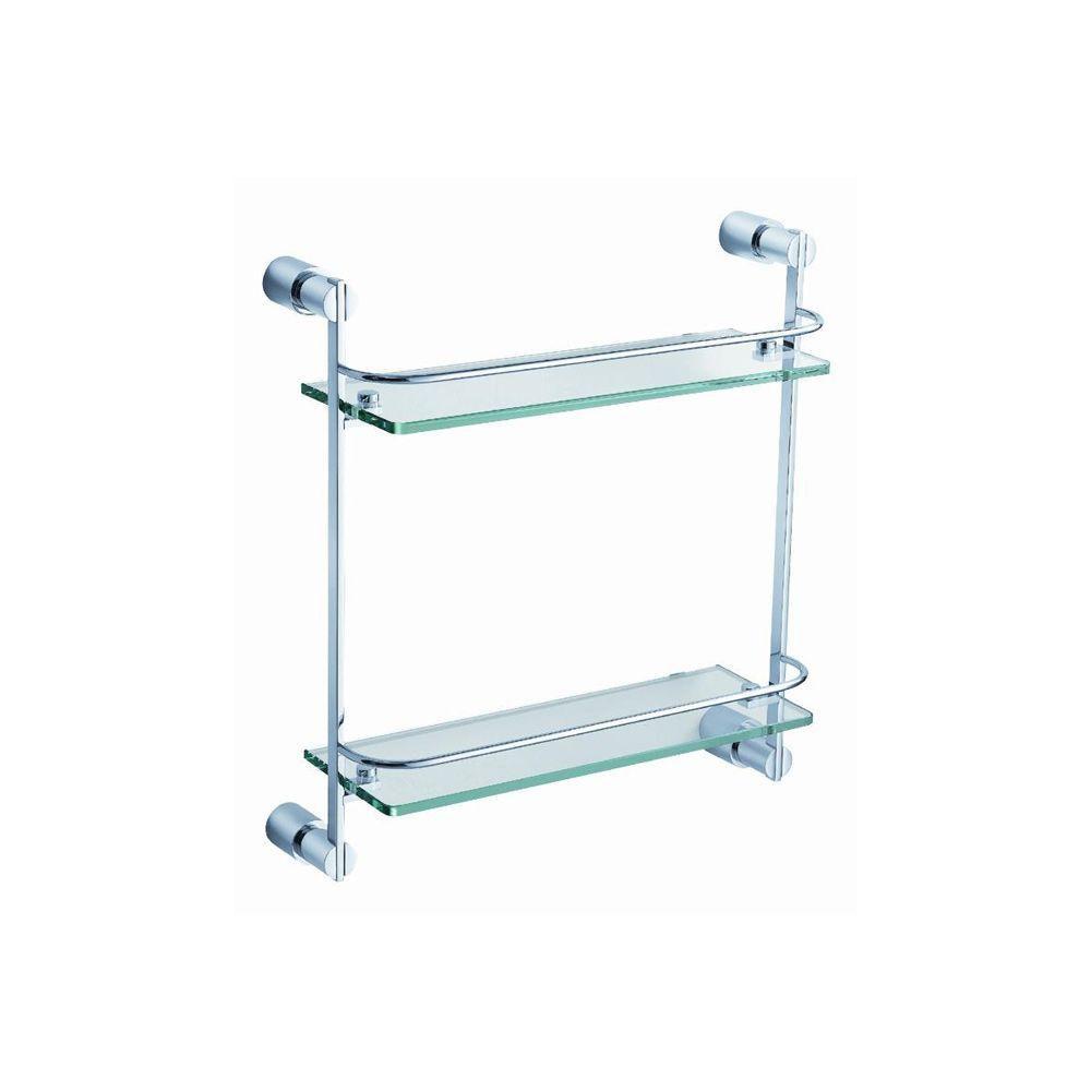 Magnifico 2 Tier Glass Shelf - Chrome