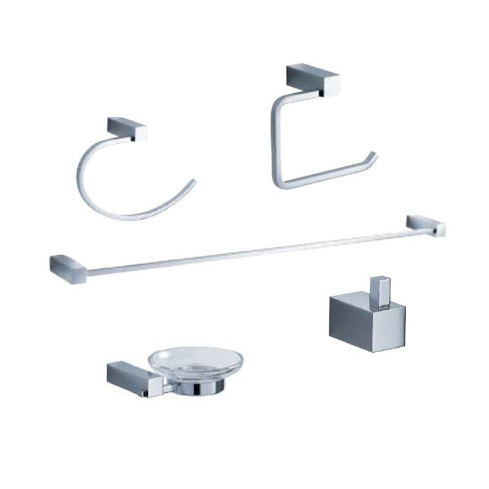 Ottimo 5-Piece Bathroom Accessory Set - Chrome