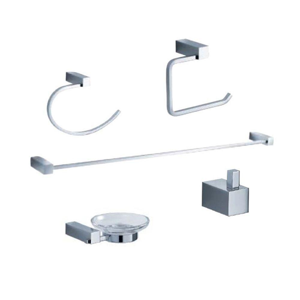 Fresca Ottimo Brass 5-Piece Bathroom Accessory Set in Chrome