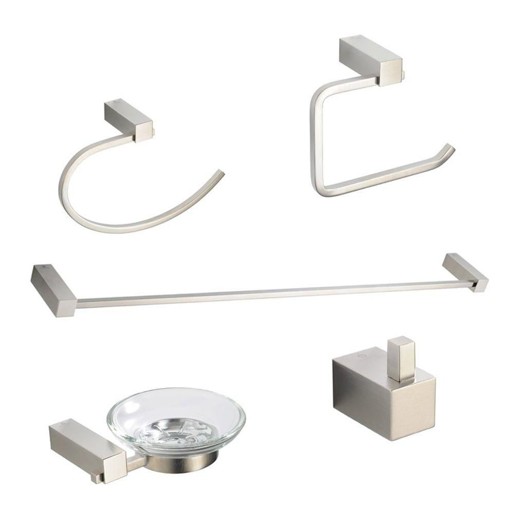 Ottimo 5-Piece Bathroom Accessory Set - Brushed Nickel