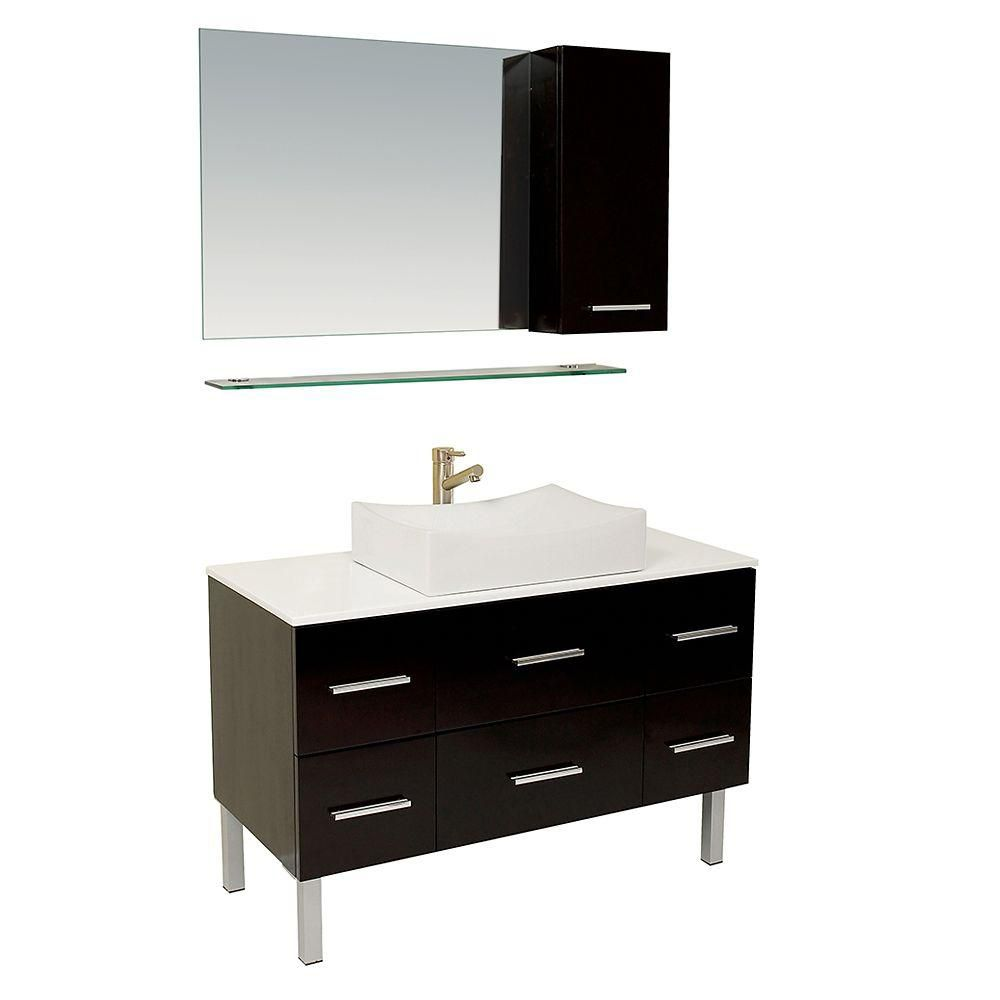 Fresca Distante Espresso Modern Bathroom Vanity With