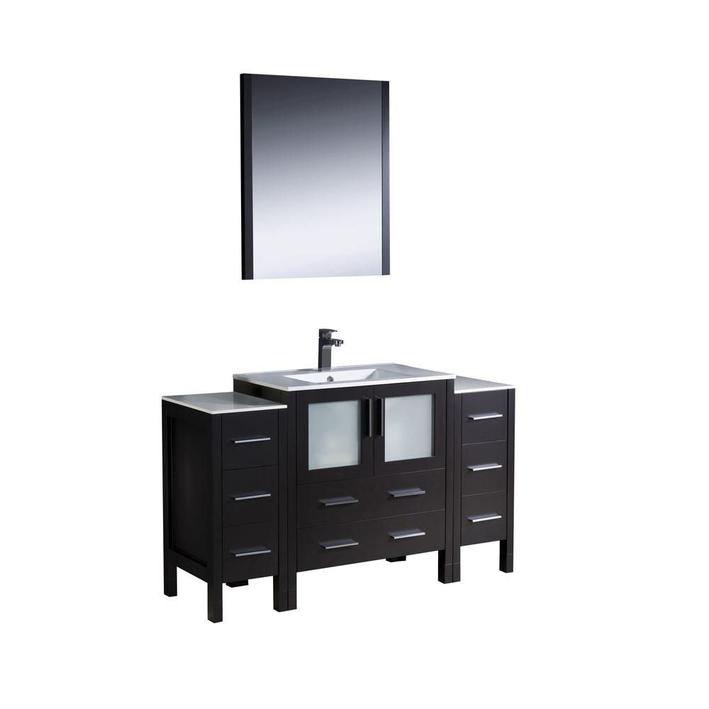Torino 54-inch W Vanity in Espresso Finish with Undermount Sink