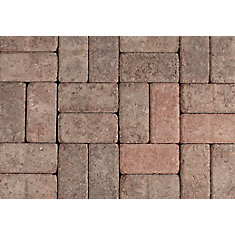 Tumbled Oldstone Red/Charcoal Pavers