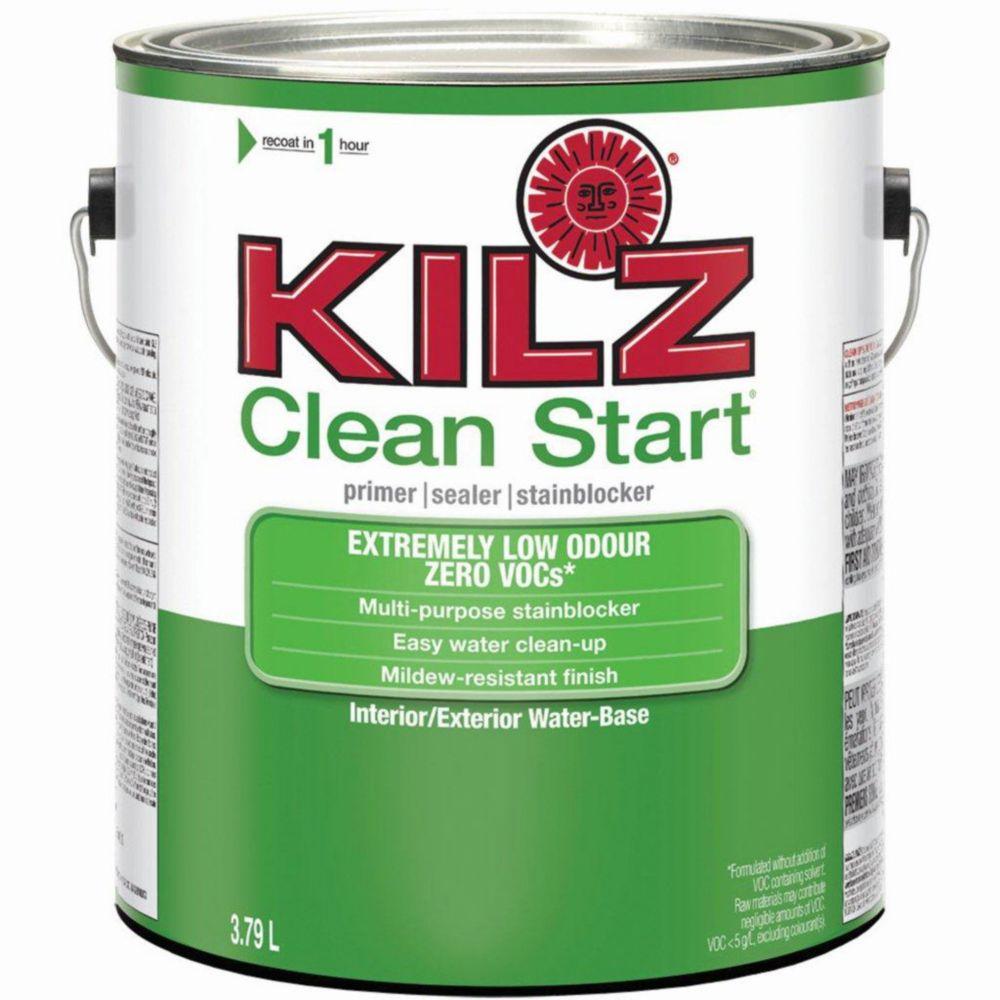KILZ CLEAN START Intérieur/extérieur - Apprêt, bouche-pores, bloque-taches, 3,79 L