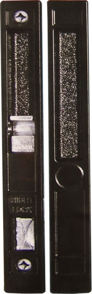 Black Flush Mount Patio Door Handle Set