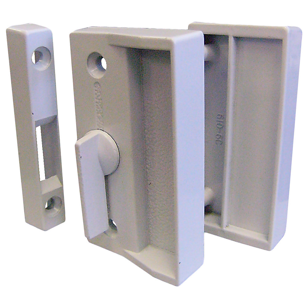 Ideal Security White Screen Door Latch Set | The Home Depot Canada on