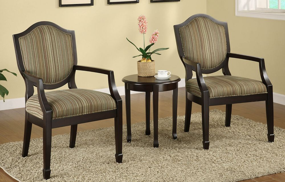 Cambridge 3 Pc Accent Chair Set