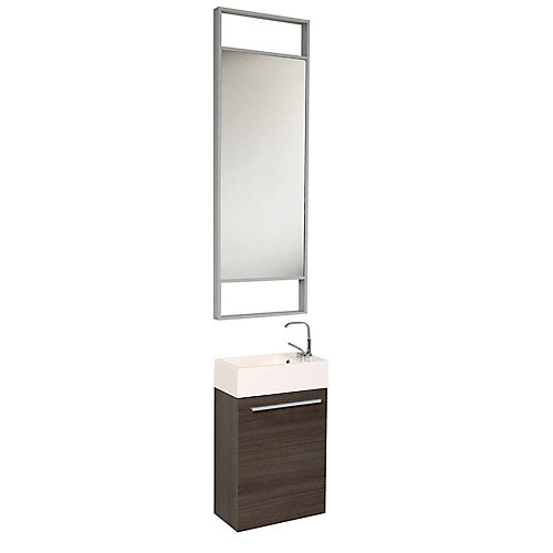 Fresca Pulito petit meuble lavabo de salle de bains moderne chªne