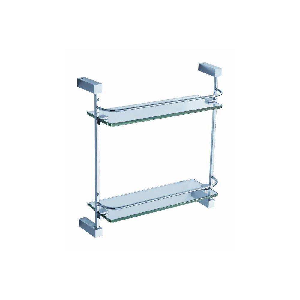 Ottimo 2 Tier Glass Shelf - Chrome