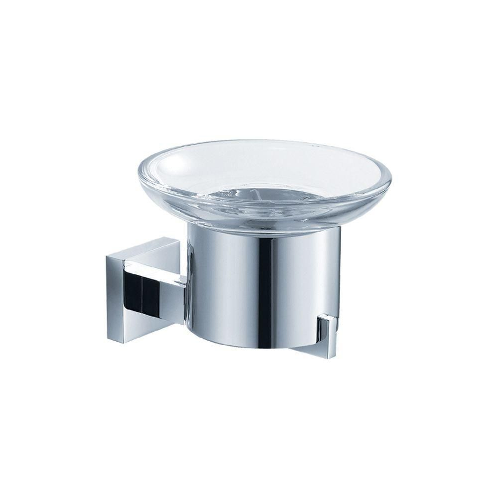 Fresca glorioso soap dish wall mount chrome the home depot canada for Wall mounted soap dishes for bathrooms