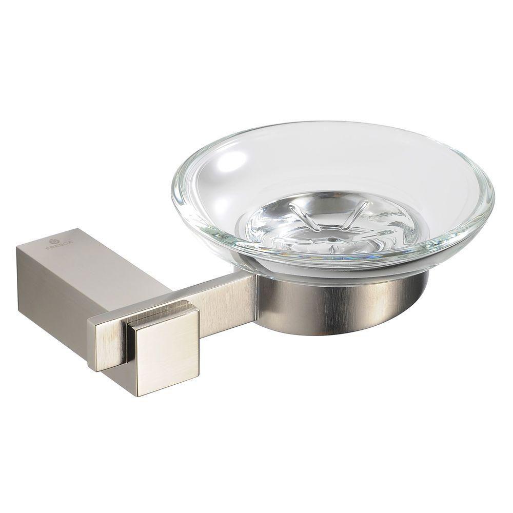 Ellite Soap Dish - Brushed Nickel