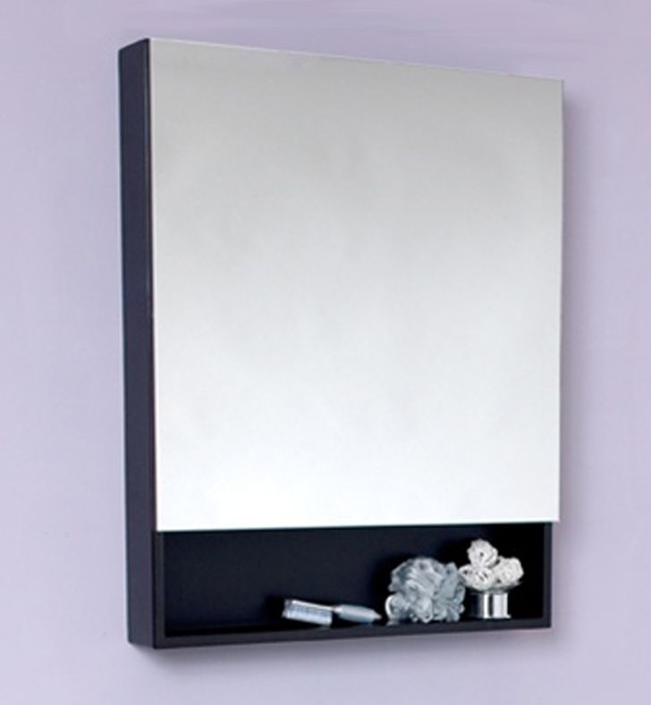 Small Espresso Bathroom Medicine Cabinet With Small Bottom Shelf