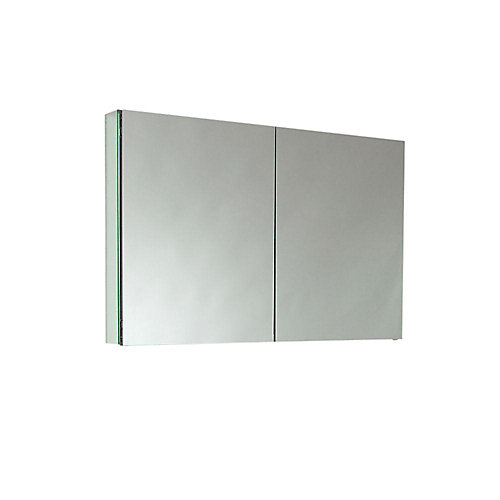40-inch W 2-Shelf Medicine Cabinet with Mirrors