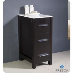 Fresca Torino 12 Inch Espresso Bathroom Linen Side Cabinet