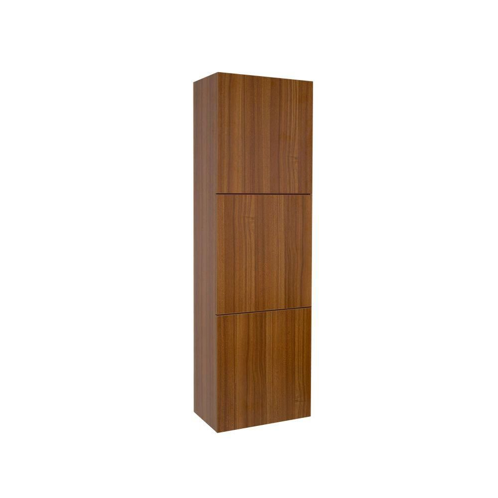 Fresca Teak Bathroom Linen Side Cabinet With 3 Large