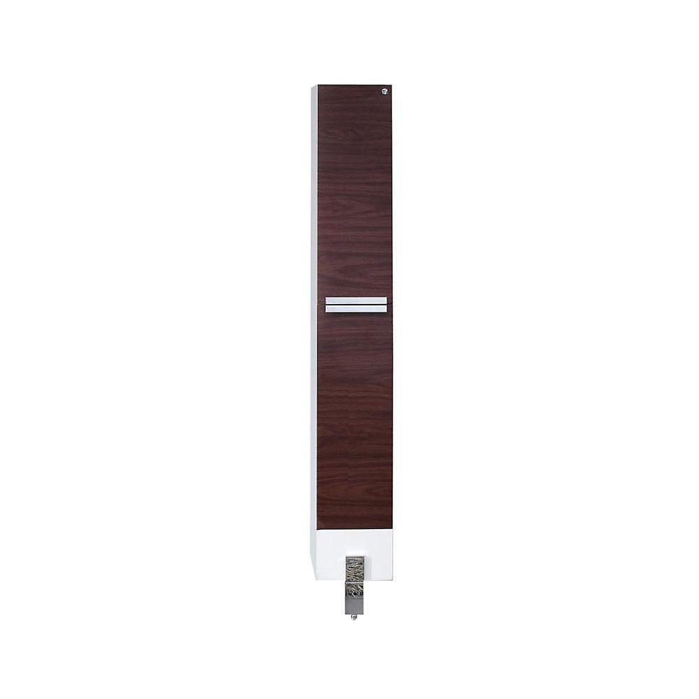 Adour Dark Walnut Bathroom Linen Side Cabinet