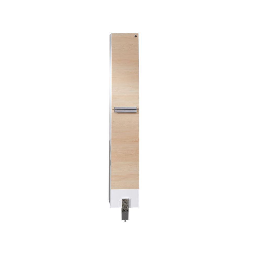 Adour Light Walnut Bathroom Linen Side Cabinet