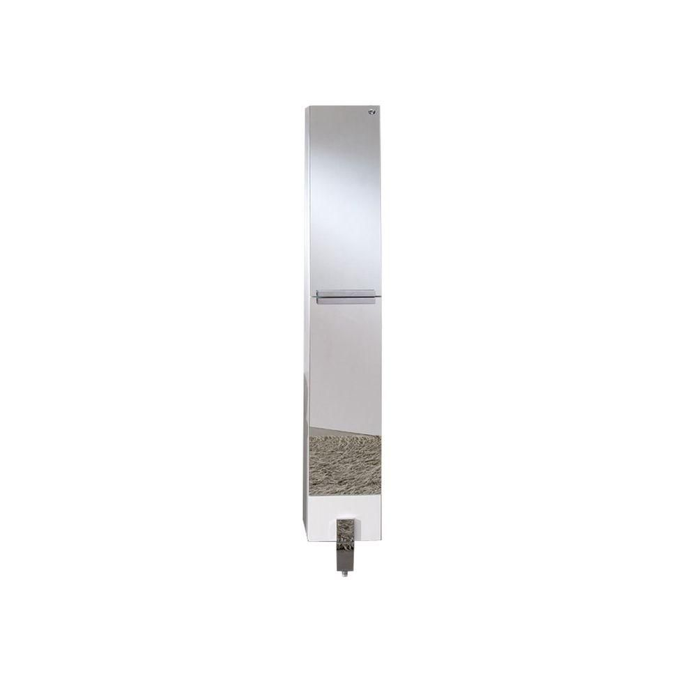 Fresca Adour Mirrored Bathroom Linen Side Cabinet | The Home Depot ...