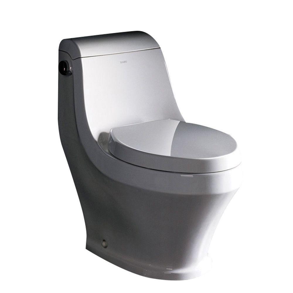 Volna contemporaine Une pièce 1.6 Gal. allongee toilette