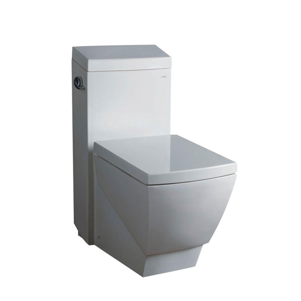 Apus 1-Piece 1.6 GPF Single Flush Elongated Bowl Toilet with Soft Close Seat
