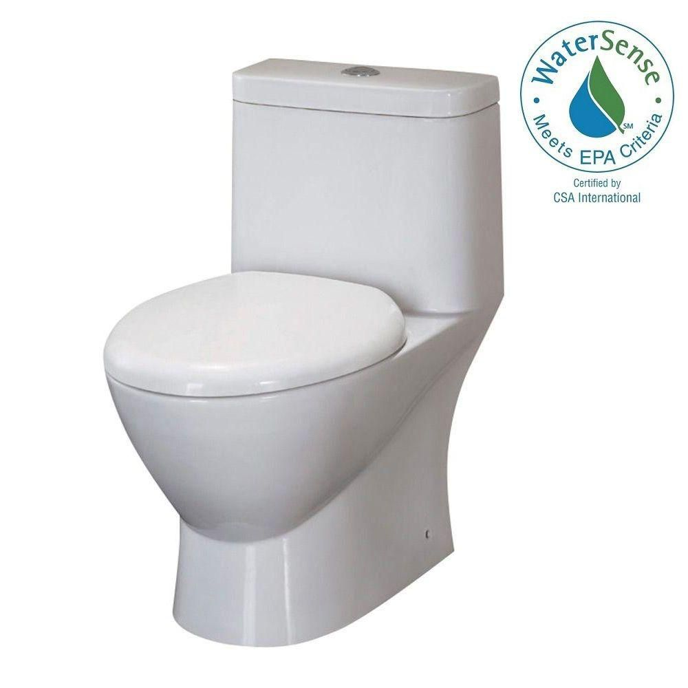Serena Dual Flush One Piece 1.6 Gal. Elongated Toilet With Soft Close Seat