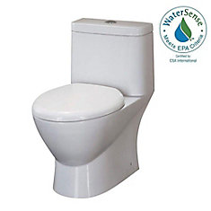 Serena 3 6 LPF 1-Piece Dual-Flush Elongated Bowl Toilet