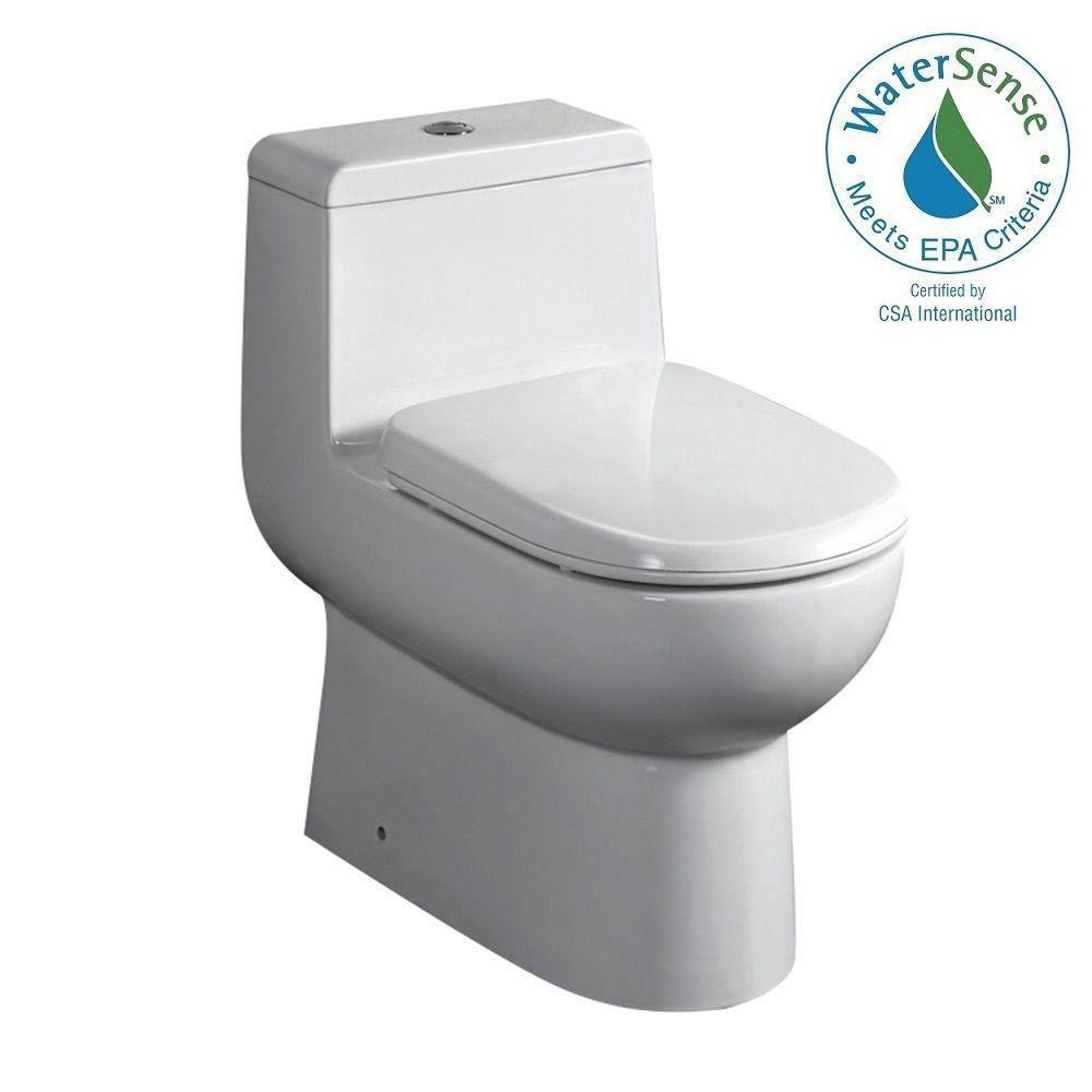 Antila 1-Piece 1.6 GPF Dual Flush Elongated Bowl Toilet with Soft Close Seat