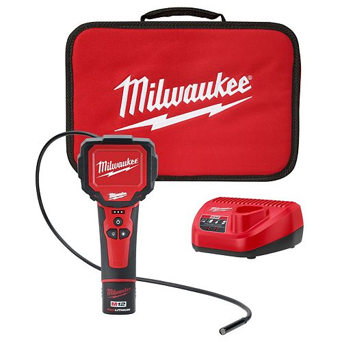 Milwaukee Tool M12 12V Li-Ion Cordless M-Spector 360 Digital Inspection Camera Kit w/1, 1.5 Ah Battery & Tool Bag