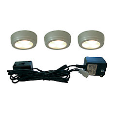 3 Light LED Plastic Puck Kit - Satin Painted