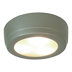 2W LED Plastic Puck  - Satin Painted