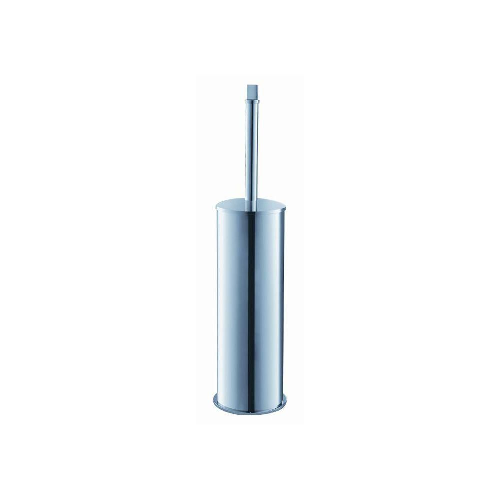 Glorioso Ceramic Toilet Brush/Holder in Chrome