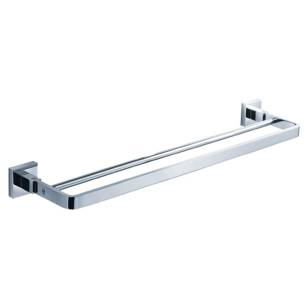 Glorioso 20 Inch Double Towel Bar - Chrome