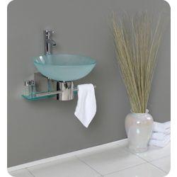 Fresca Cristallino 17.63-inch x 10.63-inch x 20.25-inch 1-Hole Bathroom Sink with
