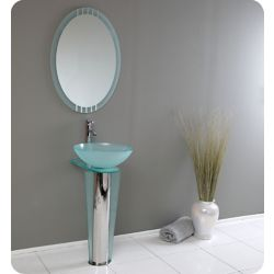 Fresca Vitale Meuble-lavabo de salle de bain en verre moderne avec ...